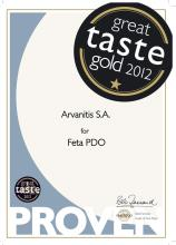 Great Taste Gold 2012 for Feta Cheese