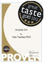 3 Star Great Taste Gold 2012 for Feta Tsantilas Cheese