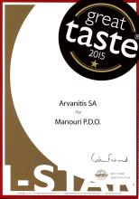 GREAT TASTE AWARD 2015 FOR MANOURI P.D.O.