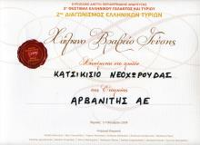 Bronze Award in Goat Cheese of Neochorouda in 2nd Greek Cheese Contest 2009