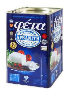Feta Cheese PDO in tin ~14 kg